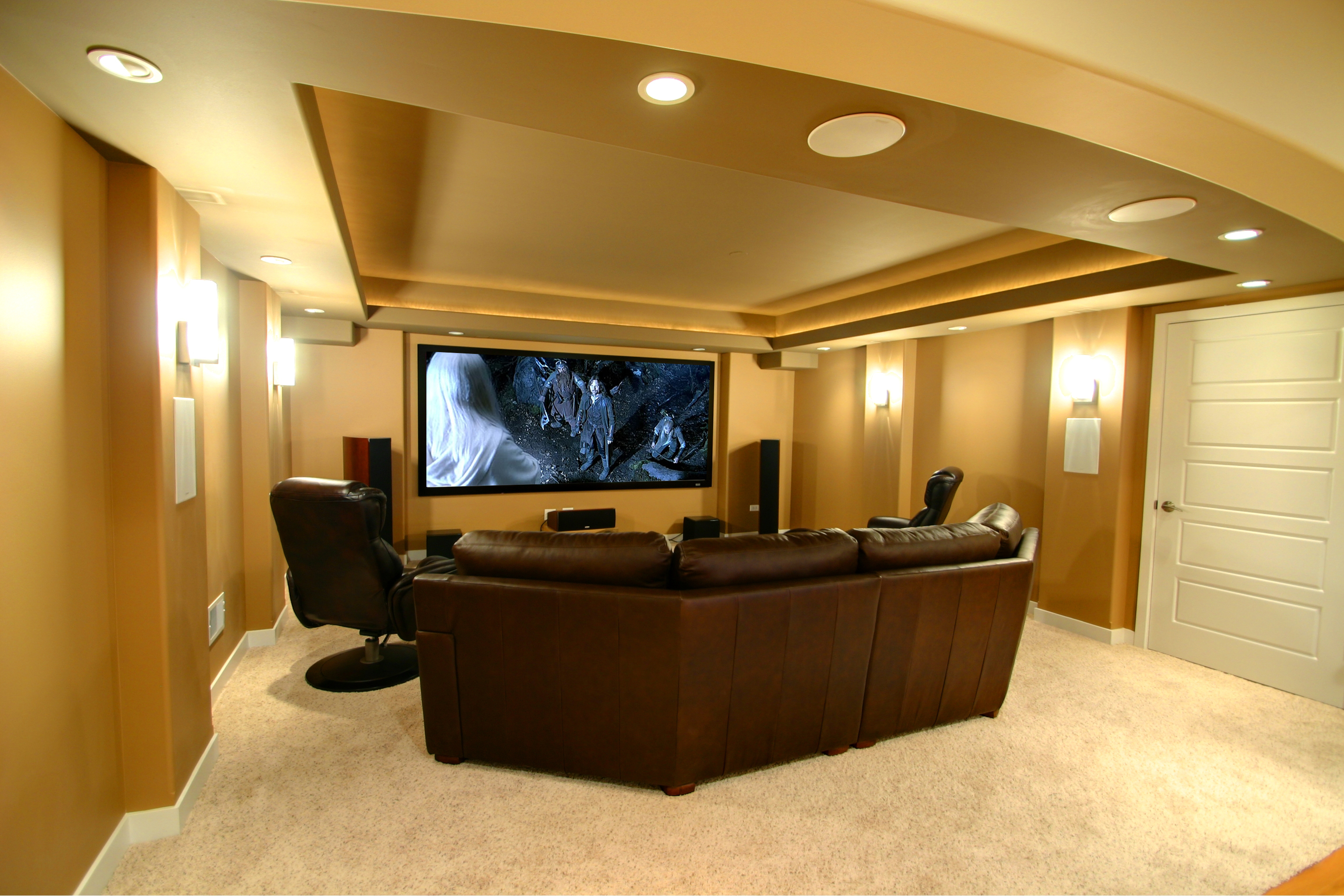 Project Completed Finished Basement And Home Theatre